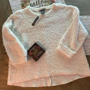 NWT Chelsea & Theodore crop fluffy sweater
